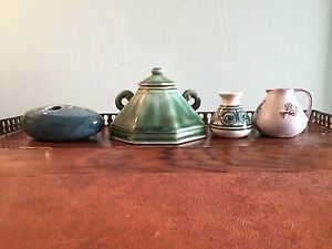JOB-LOT-COLLECTION-OF-FOUR-ITEMS-OF-STUDIO-POTTERY