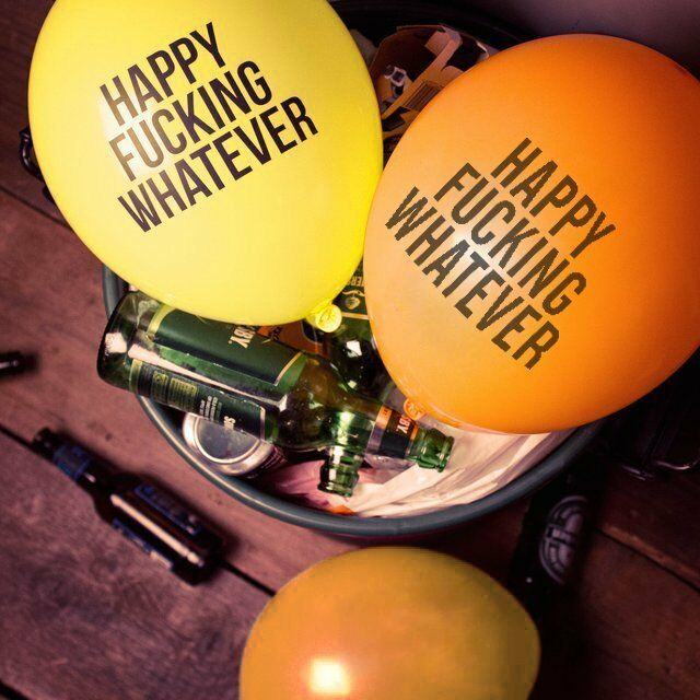 6 Pcs Joke Happy Fuxking Whatever Fu*k Quote Party Latex Birthday Balloons Décor
