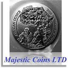 2008 Rwanda Gorilla 50 Francs 1 Oz .999 Silver Map of Africa Mint Blister