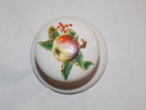Image Is Loading Vintage Porcelain Apple Cabinet Drawer Knobs