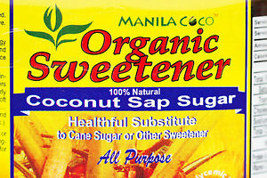 Details about Organic COCONUT SAP SUGAR Manila Coco NOT Cane Sugar/Stevia  NOT Agave/HFCS 500gm