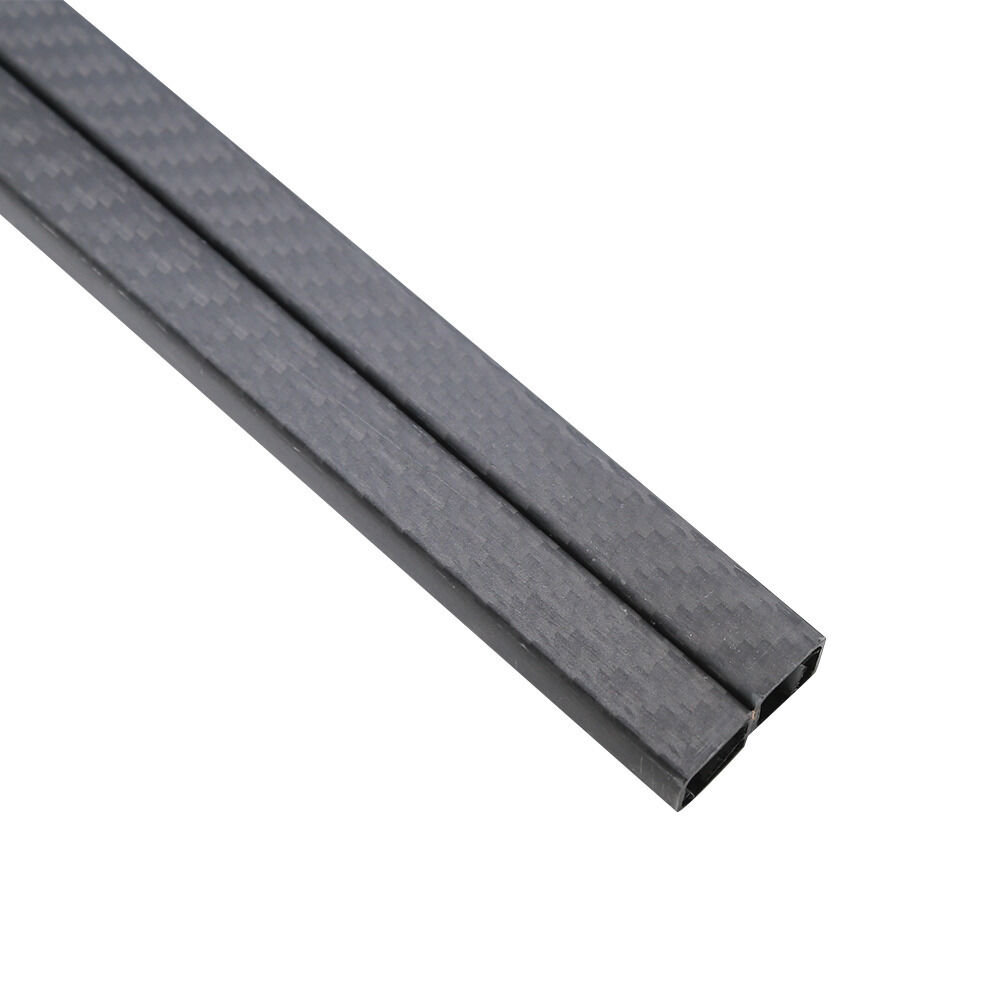 2Pcs 25x 23 x 500MM 3K 100% autobon Fiber Square Tube Pipe Matt Surface Multicopt