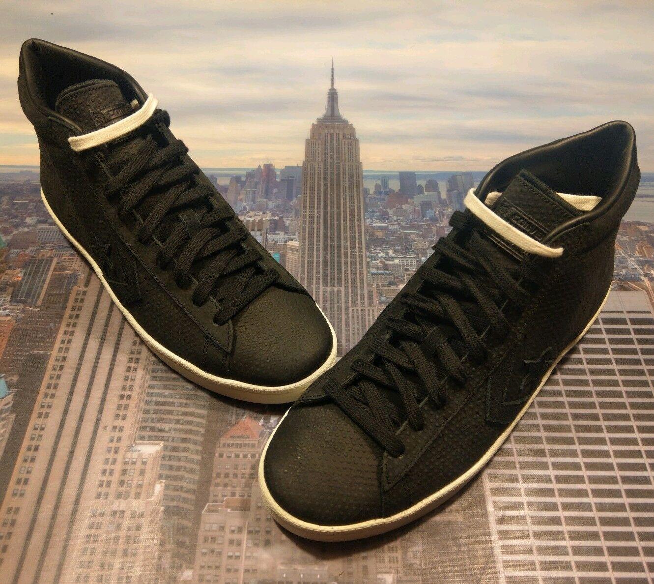 Converse PL Pro Leather Leather Leather 76 Mid Top nero nero-Egret Uomo Dimensione 10 155647c New 90441d