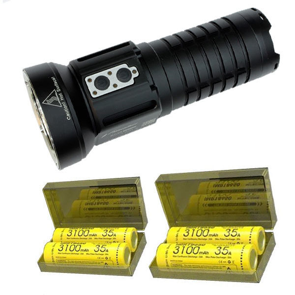 Niwalker Nova MM18III Rechargeable LED Flashlight w 4x Nitecore 35A Batteries