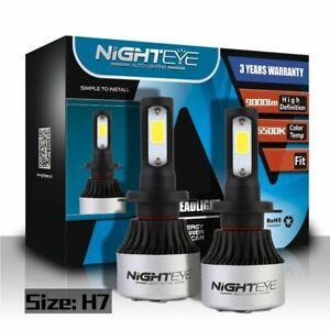 nighteye h7 led autoscheinwerfer leucht kit 72w 9000lm birnen 6500k kaltwei ebay. Black Bedroom Furniture Sets. Home Design Ideas