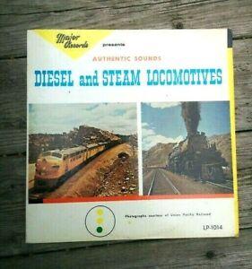 LP Major Record Railroad AUTHENTIC DIESEL & STEAM LOCOMOTIVE SOUNDS Train LP1014