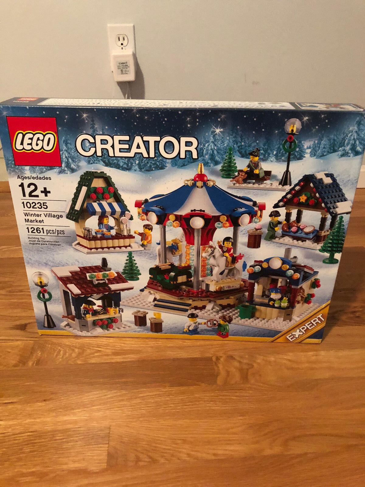 SHIPS GLOBAL LEGO 10235 WINTER VILLAGE MARKET CAROUSEL (NEW SEALED RETIROT)