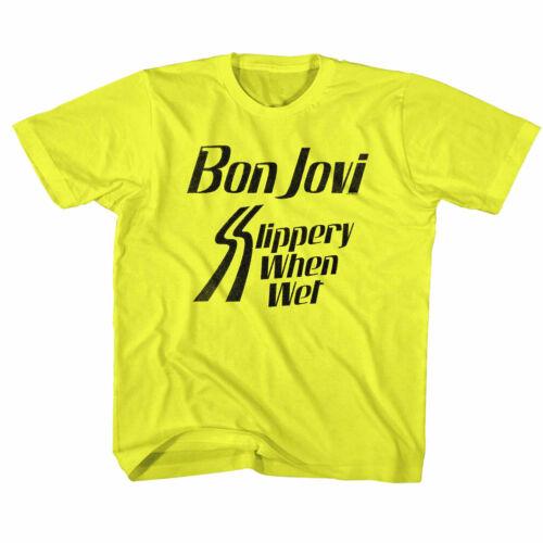 Bon Jovi Slippery When Wet Album Kids T Shirt Rock Band Boys Girl Baby Youth Top