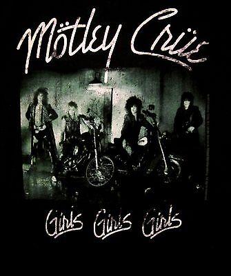 MOTLEY CRUE cd cv GIRLS GIRLS GIRLS Official ROMPER ONE-PIECE SHIRT 6 MONTH new