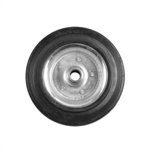 Ersatzrad für Stützrad Metall-Felge mit Vollgummi-Reifen 200 X 50 mm Stützräder