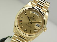Rolex DAY DATE 40MM President 228238 Mens Yellow Gold Champagne Roman Dial