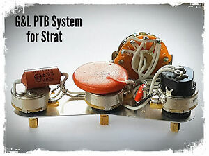 Fender Stratocaster Strat G&L Legacy wiring upgrade kit - PTB System