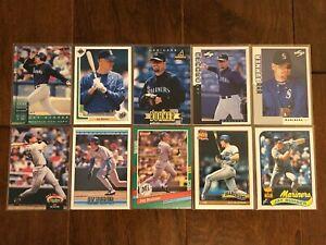 Jay-Buhner-Seattle-Mariners-10-Baseball-Card-Lot-No-Duplicates