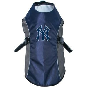 New-York-Yankees-MLB-Water-Resistant-Reflective-Dog-Pet-Jacket-Sizes-XS-L