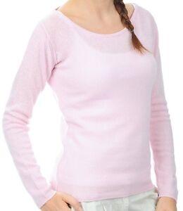 scamosciato cotone Maglione cashmere in Balldiri 100 cashmere 100 girocollo rosa Xs q1OwS
