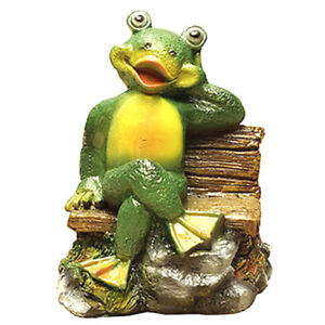 Details About Frog Statue Garden Ornament Yard Decorations Sculpture Outdoor Lawn Decor Toad