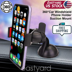 360° Car Phone Holder Windshield Suction Mount Holder Mobile Phone iPhone GPS