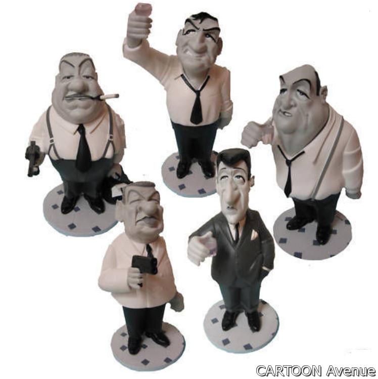 Die Tontons flingueurs GRANDS Modelle 35cm Karikatur saint emett lautner Folie