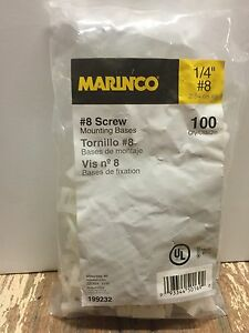 dc58d9b11260 Marinco 199232 Cable Tie Mount, #8 Screw, Natural, 100pc 93344501692 ...