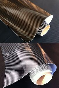 6-m-Premium-2D-CARBON-FOLIE-Glanz-laminiert-blasenfrei-selbstklebend-Auto