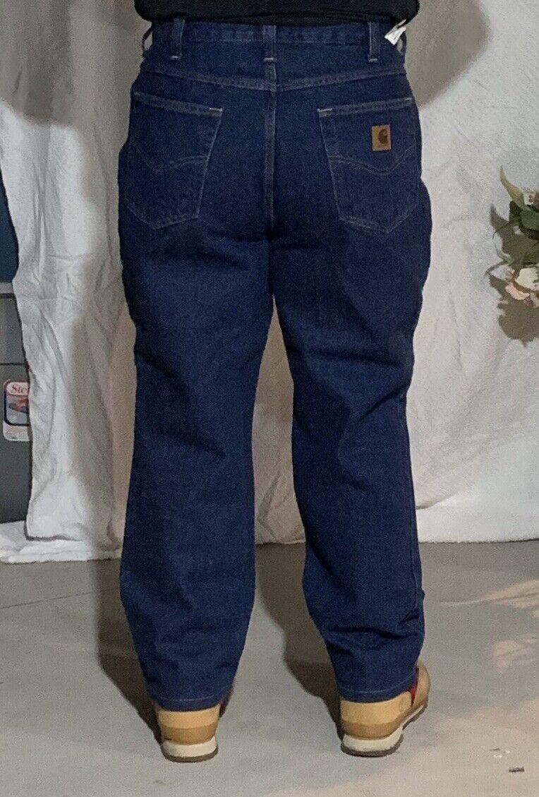 New Carhartt Pants bluee Jeans Denim 100% Cotton Work Pants Men's Size 38 32
