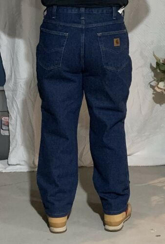Used Carhartt Pants Blue Jeans Denim 100/% Cotton Work Pants Men's Size 48X32