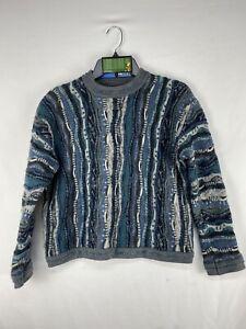 Vintage-COOGI-Australia-Pullover-Herren-Groesse-M-3d-strukturiert-Baumwolle-Biggie-Bill-Cosby-VTG