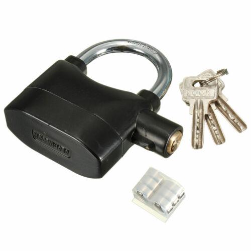 Bicycle Bike Motorcycle Padlock Alarm Siren Lock Anti Theft Security  !