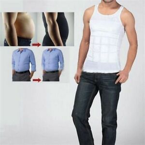 e93534a49538 Men Body Slimming Tummy Shaper Running Vest Waist Shirt Shapewear ...