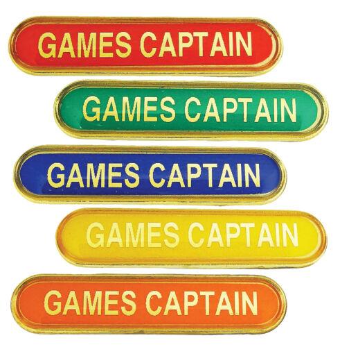 Yellow Games Captain Bar School Badges Red Blue Orange Green