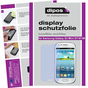 2x-Samsung-Galaxy-S3-mini-Schutzfolie-klar-Displayschutzfolie-Folie-unsichtbar