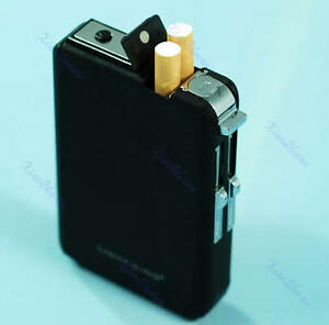 Lighter-Cigarette-Case-Box-Holder-Windproof-Dispenser