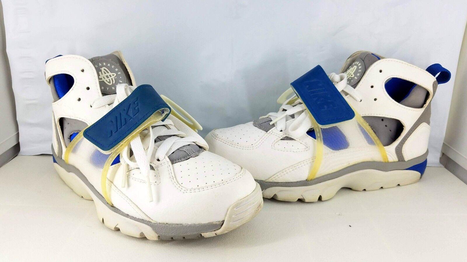 Nike Air Huarache Trainer 2003White, Med Grey-Royal bluee Men's Size 7 RARE OG