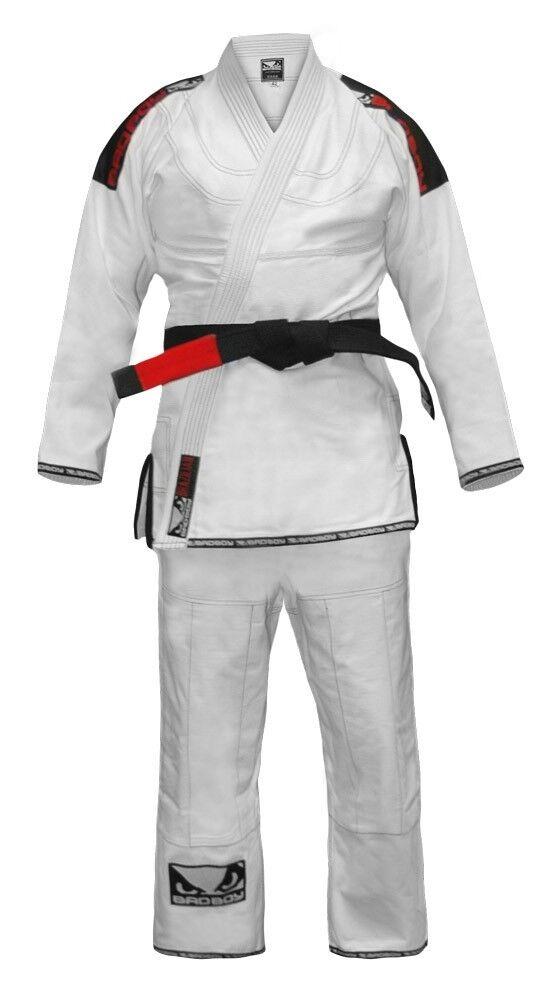 Bad Boy Training Jiu-Jitsu Gi White A4 A5 Uniform BJJ UFC MMA Roll Gracie