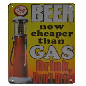 La pubblicità in lamiera SCUDO 20x30 cm drink, Don 't Drive Garage Officina della Birra