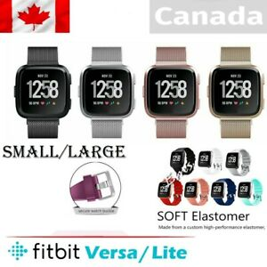 Replacement-Silicone-Band-Milanese-Band-For-Fitbit-Versa-Lite-Sports-S-L-CA