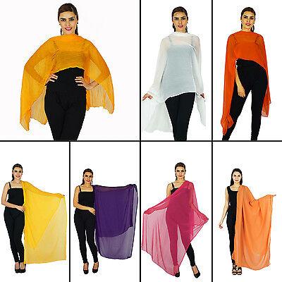 Indian Fashion Women Long Scarf Dupatta Chunni Stole Hijab Neck Wrap-NDP386