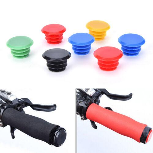 3Pair Bicycle Bike Handlebar Plastic End Plugs Bungs Caps End Plugs Cap Cover HG