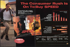 SPEED-Original-1994-Trade-Print-AD-ADVERT-promo-KEANU-REEVES-SANDRA-BULLOCK