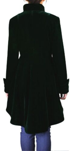 scuro gotico Ruffle Sm Xxl Jacket Md velluto Nuovo Xlx vittoriano Low Lg Verde Xs High YqSwRgg