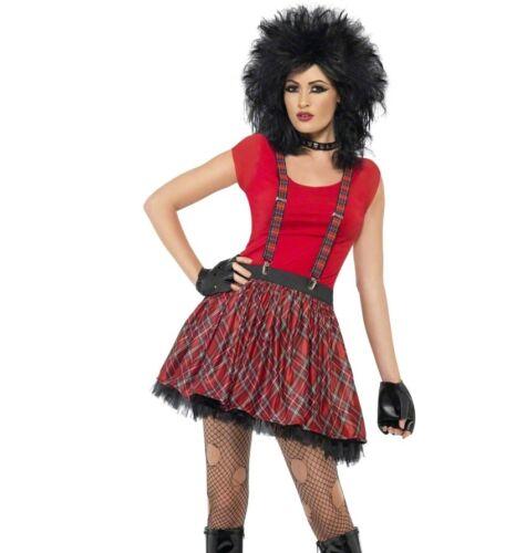 Braces /& Gloves Fancy Dress Costume Size 8-12 Smiffys Ladies 80s Punk Kit Tutu