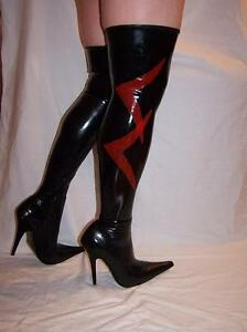 high heels boots latex rubber 100  size 3547 producer