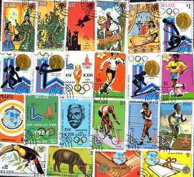 Belize Kollektionen De 25 à 300 Briefmarken Unterschiedliche