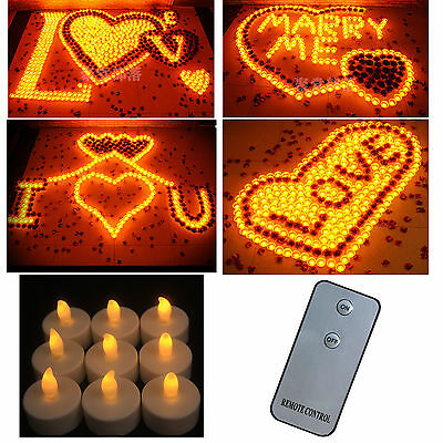Flameless LED Wedding Tea Light Tealight Candle Yellow & Remote Control Choose