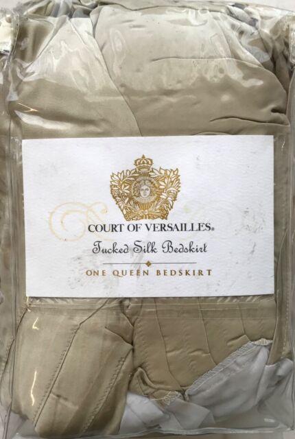 White 500 Sateen Cotton NIP NEW VTG Court of Versailles King Flat Sheet
