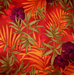 2 Way Stretch Muve Pink Rust Flowers Poly Rayon Fabric