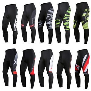 Men-039-s-Sports-Bike-Tights-Cycling-Riding-3D-GEL-Padded-Long-Pants-Bicycle-Wear
