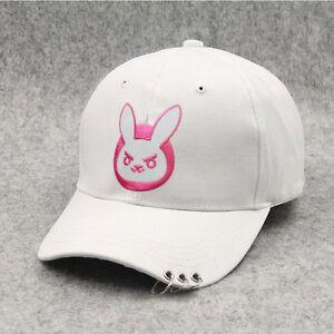 Ow Dva D. va Pink Bunny Logotipo Bordado Branco Algodão Ajustável ... b1a6e52c60c