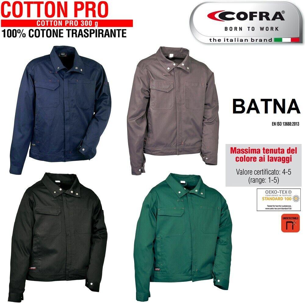 Immagine 01 - Giacca-da-lavoro-COFRA-modello-BATNA-100-cotone-300-g-m-edilizia-industria