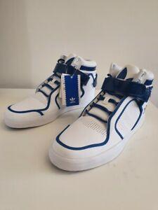 Détails sur Homme Adidas Originals Adi Rise Mid Baskets Blanc V22679 UK 8.5 EU 42.5 afficher le titre d'origine